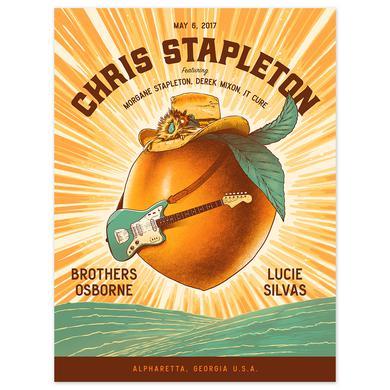 Chris Stapleton Show Poster – Alpharetta, Georgia 5/6/17