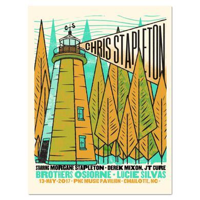 Chris Stapleton Show Poster – Charlotte, NC 5/13/17