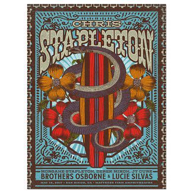 Chris Stapleton Show Poster – Chula Vista, CA 5/18/17
