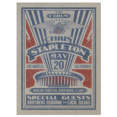 Chris Stapleton Show Poster – Los Angeles, CA 5/20/17