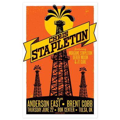 Chris Stapleton Show Poster – Tulsa, OK 6/22/17