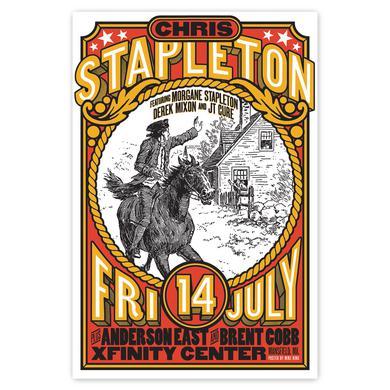 Chris Stapleton Show Poster – Mansfield, MA 7/14/17