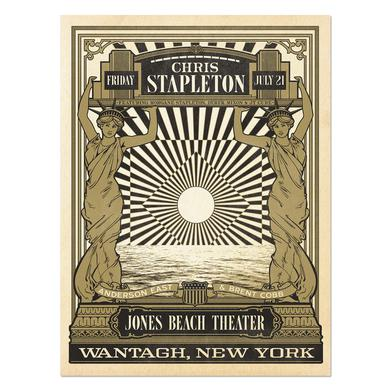 Chris Stapleton Show Poster – Wantagh, NY 7/21/17