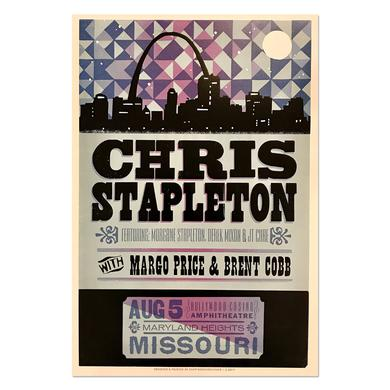 Chris Stapleton Show Poster – Maryland Heights, MO 8/5/17