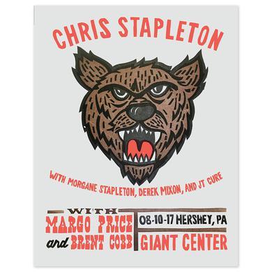 Chris Stapleton Show Poster – Hershey, PA 8/10/17