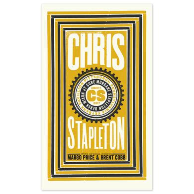 Chris Stapleton Show Poster – Burgettstown, PA 8/11/17