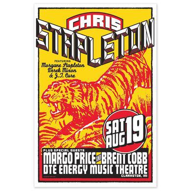 Chris Stapleton Show Poster – Clarkston, MI 8/19/17
