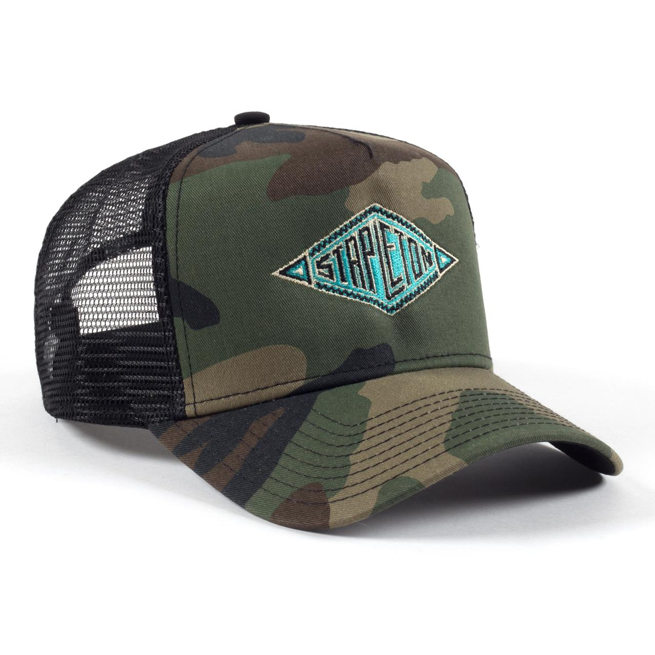 Chris Stapleton Southwestern Embroidered New Era Camo Trucker Hat d34538849c2