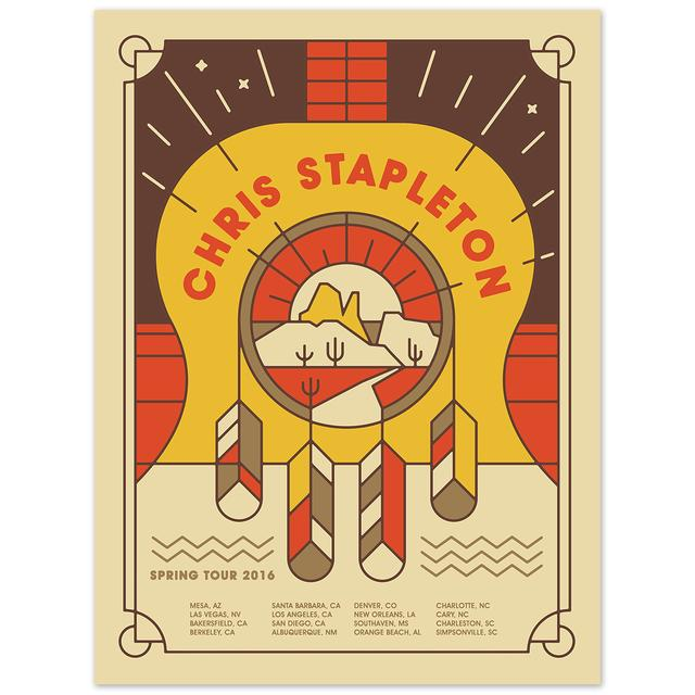 Chris Stapleton 2016 Spring Tour Poster