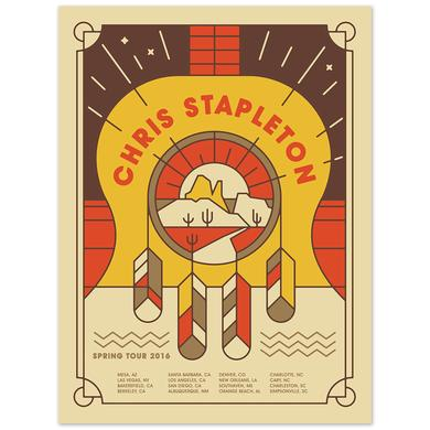 Chris Stapleton Signed 2016 Spring Tour Poster