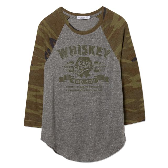Chris Stapleton The Whiskey and You Ladies Camo Raglan