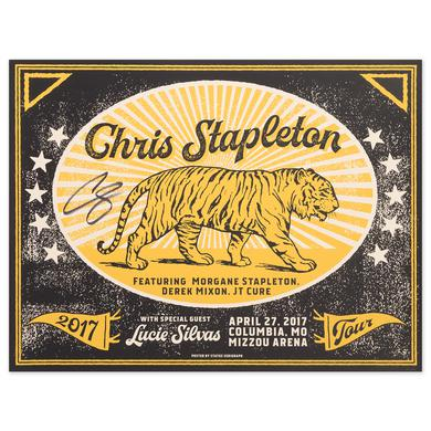 Signed Chris Stapleton Show Poster – Columbia, MO 4/27/17