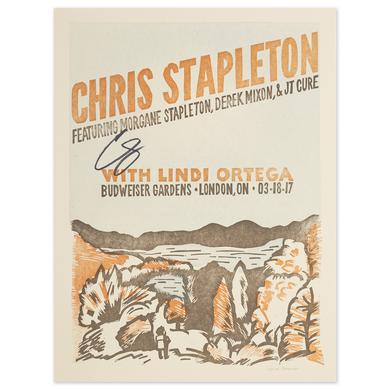 Signed Chris Stapleton Show Poster – London, Ontario 3/18/17