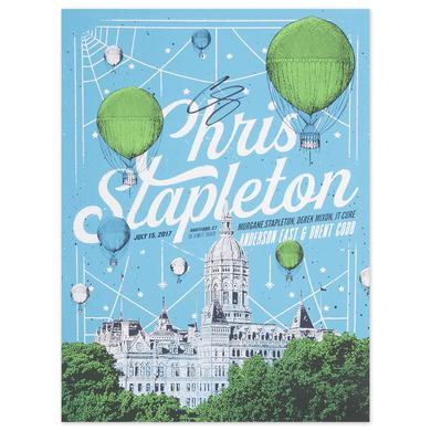 Signed Chris Stapleton Show Poster – Hartford, CT 7/15/17