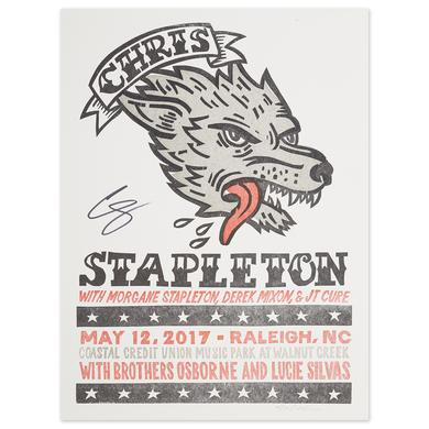 Signed Chris Stapleton Show Poster – Raleigh, NC 5/12/17
