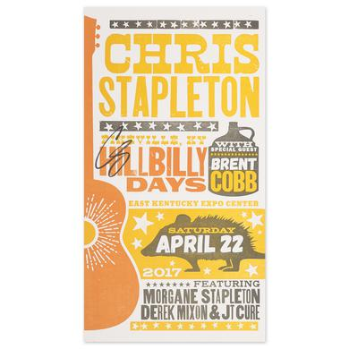 Signed Chris Stapleton Show Poster – Pikeville, KY 4/22/17 Second of Two