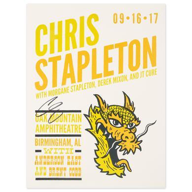 Signed Chris Stapleton Show Poster – Pelham, AL 9/16/17