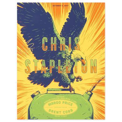 Signed Chris Stapleton Show Poster – Moline, IL 10/5/17