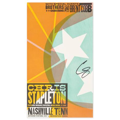 Signed Chris Stapleton Show Poster – Nashville, TN 10/13/17 First of Two