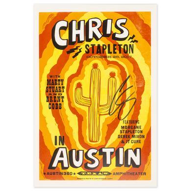 Signed Chris Stapleton Show Poster – Austin, TX 10/26/17