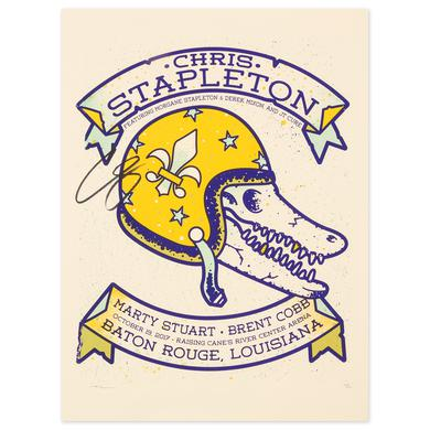 Signed Chris Stapleton Show Poster – Baton Rouge, LA 10/19/17