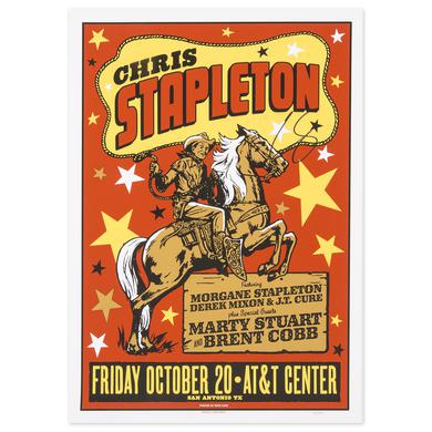 Signed Chris Stapleton Show Poster – San Antonio, TX 10/20/17