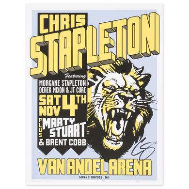 Signed Chris Stapleton Show Poster – Grand Rapids, MI 11/4/17
