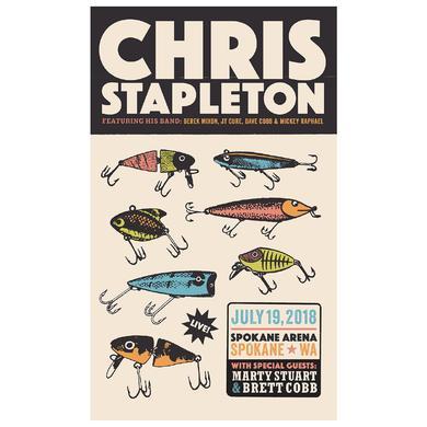 Chris Stapleton Show Poster – Spokane, WA 07/19/18