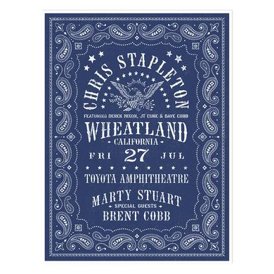 Chris Stapleton Show Poster – Wheatland, CA 7/27/18