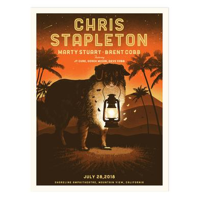 Chris Stapleton Show Poster – Mountain View, CA 7/28/18