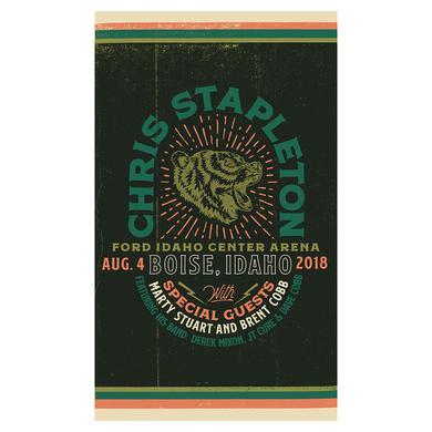 Chris Stapleton Show Poster – Boise, ID 8/4/18