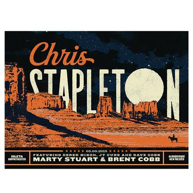 Chris Stapleton Show Poster – Albuquerque, NM 8/9/18