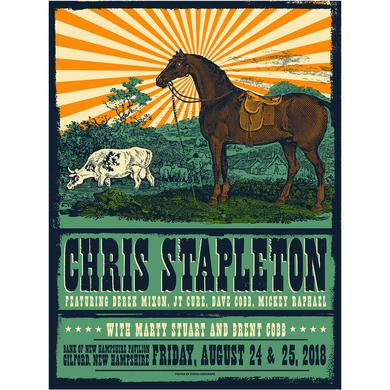 Chris Stapleton Show Poster – Gilford, NH 8/24/18-8/25/18