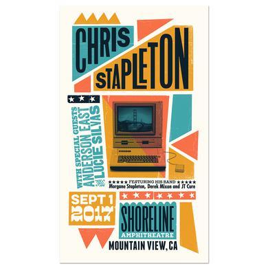 Chris Stapleton Show Poster – Mountain View, CA 9/1/17