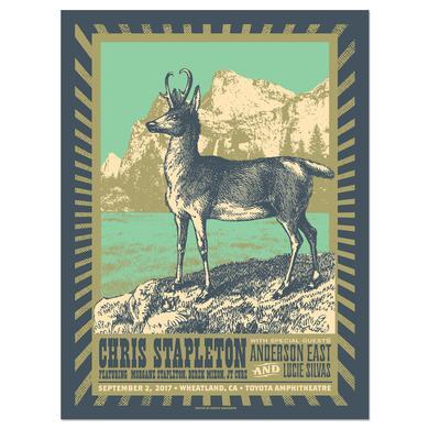 Chris Stapleton Show Poster – Wheatland, CA 9/2/17