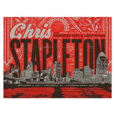 Chris Stapleton Show Poster – Cincinnati, OH 9/8/17