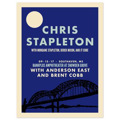 Chris Stapleton Show Poster – Southaven, MS 9/15/17