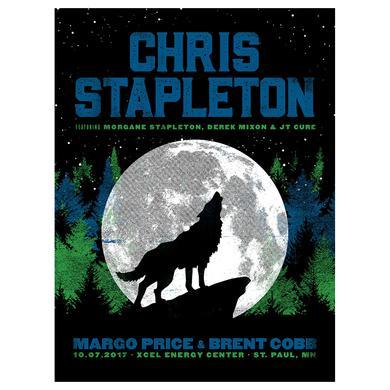 Chris Stapleton Show Poster – St. Paul, MN 10/7/17