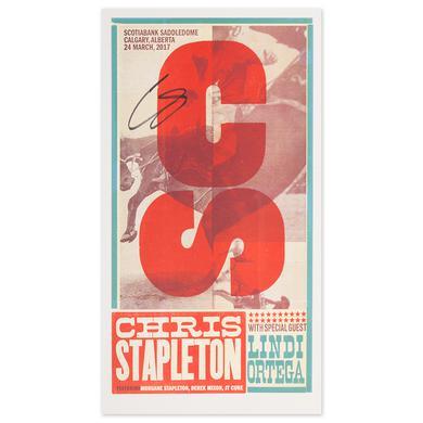 Signed Chris Stapleton Show Poster – Calgary, Alberta 3/24/17