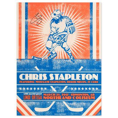 Signed Chris Stapleton Show Poster – Edmonton, Alberta 3/25/17