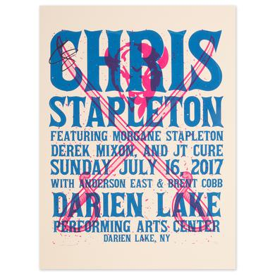 Signed Chris Stapleton Show Poster – Darien Lake, NY 7/16/17