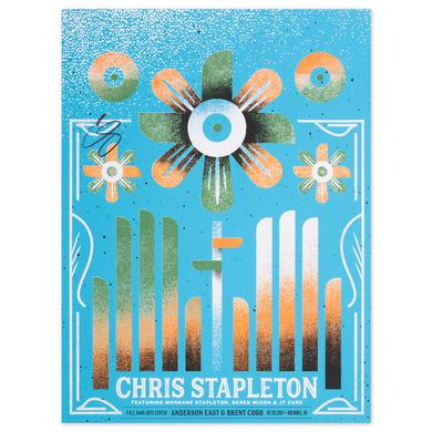 Signed Chris Stapleton Show Poster – Holmdel, NJ 7/20/17