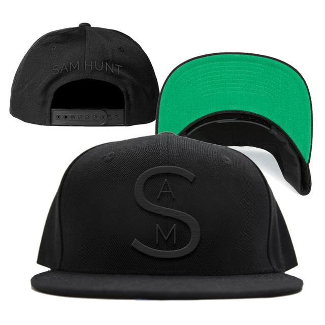 Sam Hunt S A M Black on Black Cap