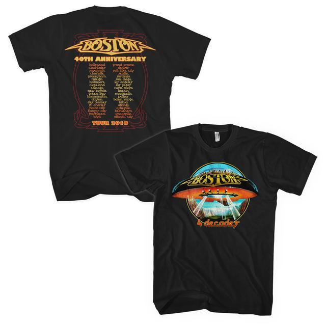 Boston 4 Decades Itinerary T-Shirt