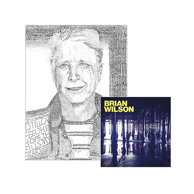 Brian Wilson Hand Signed!  No Pier Pressure CD, Lithograph & Digital Album
