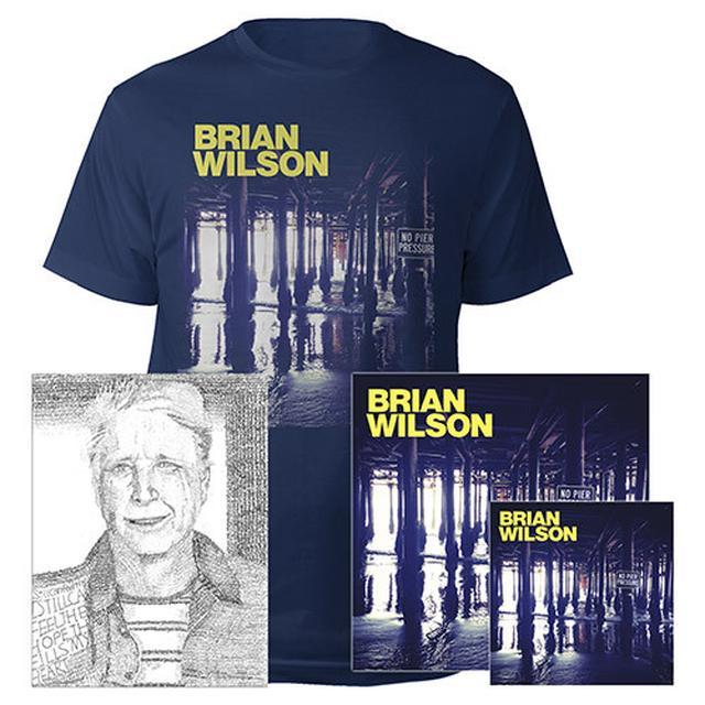 Brian Wilson Hand Signed!  No Pier Pressure Deluxe CD, 2 LP Vinyl, Lithograph, Tee & Digital Album