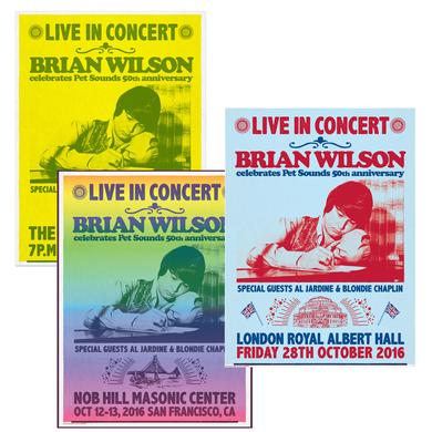 Set of 3 Hand Signed Brian Wilson Lithographs