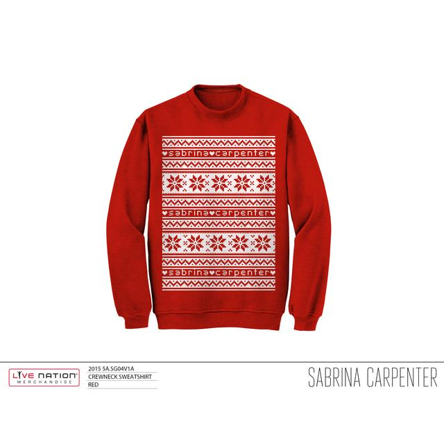 Sabrina Carpenter Sabrina Snowflake Sweatshirt