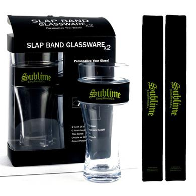 Sublime 2PC Slap Band Glass Sets