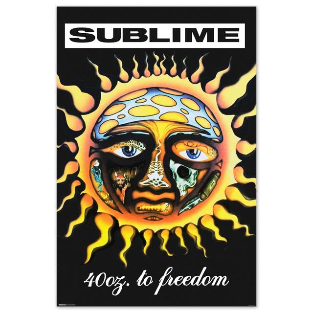Sublime 40oz To Freedom Poster